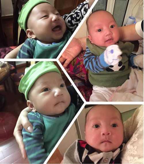 Su Hào, con trai Tuấn Hưng rất kháu khỉnh và thừa hưởng nhiều nét giống cả bố lẫn mẹ.