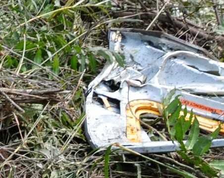 Mảnh vỡ chiếc máy bay rơi