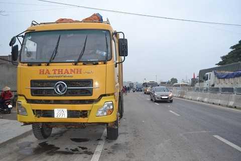 Chiếc xe tải gây tai nạn