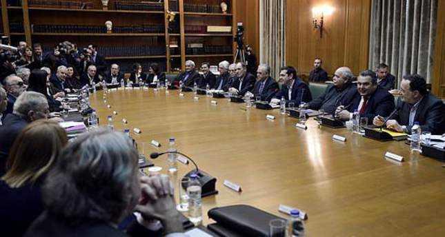 Toàn cảnh cuộc họp nội các đầu tiên của tân chính phủ Hy Lạp tại Athens vào ngày 28/1