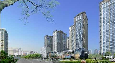 Hình ảnh dự án Goldmark City nhìn từ khu Trung tâm thương mại. Đây là dự án nhận được nhiều sự kì vọng của khách hàng, trong đó có anh Hoài Nam.
