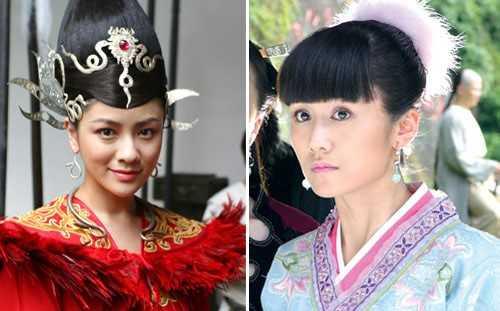 Lưu Vân (phải) và Hồ Khả (trái) đều từng là người yêu của nam diễn viên Nhiếp Viễn, có tin cho rằng vì nàng họ Hồ mà ngôi sao phim Lên nhầm kiệu hoa lấy chồng như ý đã bỏ rơi người đẹp họ Lưu. Vậy mà một ngày đẹp trời, họ cùng đóng vai vợ của Vi Tiểu Bảo - Huỳnh Hiểu Minh trong phiên bản Lộc đỉnh ký 2008, Lưu Vân thể hiện vai Mộc Kiếm Bình, còn Hồ Khả là Tô Thuyên.
