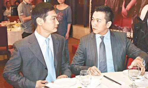 Năm 2007, Đào Đại Vũ (trái) và Ôn Triệu Luân (phải) đóng chung bộ phim Nghĩa bổn đồng tâm.              Điều khiến khán giả quan tâm là trước đó, 2 chàng từng tranh giành mỹ              nhân Quách Thiện Ni và ở tác phẩm này, họ tái diễn vai trò tình địch khi              cùng yêu nhân vật nữ chính.