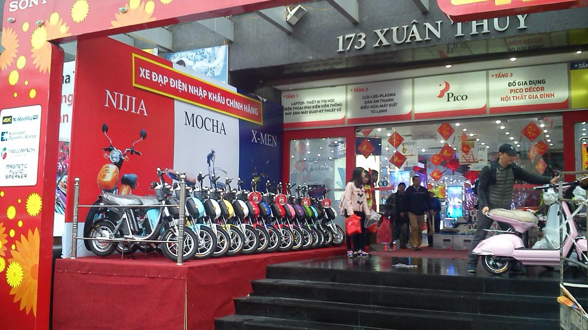 Ảnh bày bán xe đạp điện tại Pico