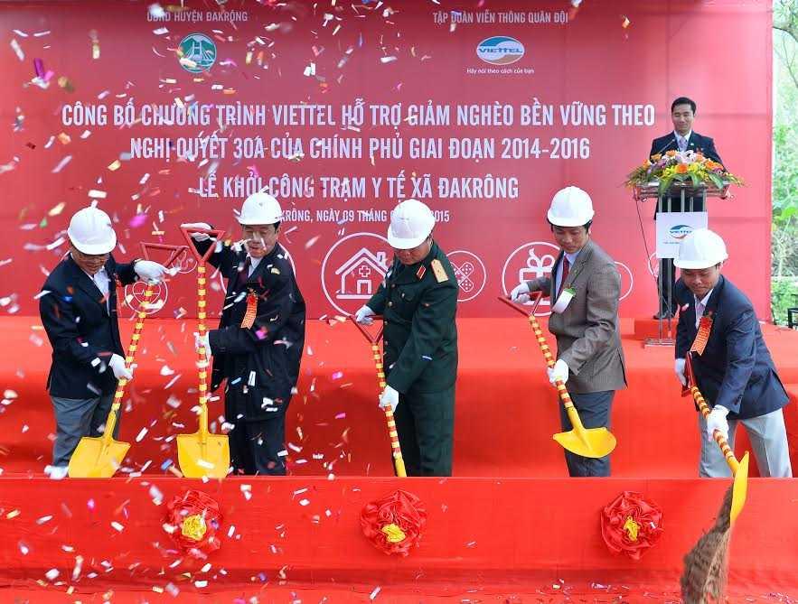 Viettel khởi công trạm y tế ĐakRông