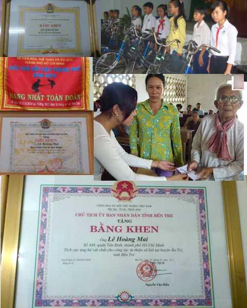 Với những đóng góp cho xã hội, võ sư Lê Hoàng Mai nhận được nhiều Bằng khen, Giấy khen từ các đơn vị trong cả nước. Ảnh: Phan Cường