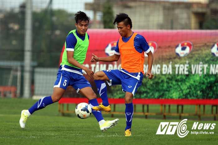U23 Việt Nam tập luyện với cường độ cao (Ảnh: Quang Minh)