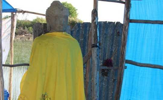 Tượng Phật được tìm thấy giữa 'Cánh đồng chó ngáp'