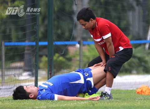 Xuân Trường nhiều khả năng sớm rời khỏi đội tuyển vì chấn thương (Ảnh: Quang Minh)