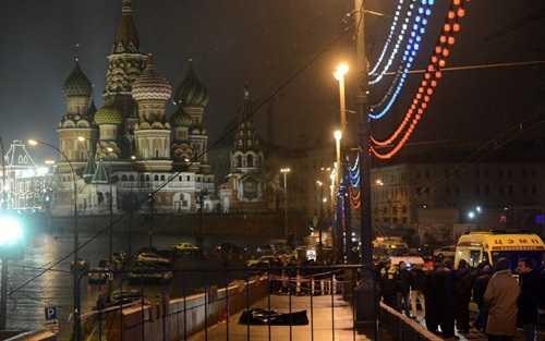 Hiện trường vụ ám sát cựu phó Thủ tướng Nga Boris Nemtsov