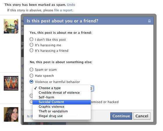 Với công cụ mới, Facebook muốn giảm các vụ tự tử.