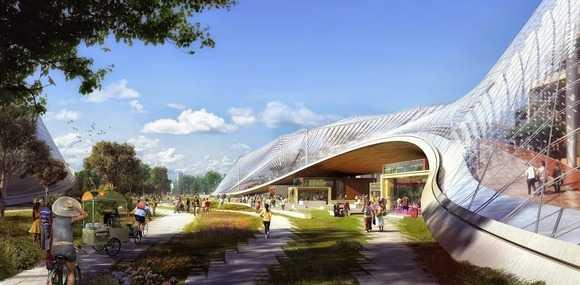 Khuôn viên làm việc sẽ đảm bảo môi trường ánh sáng và không khí đầy đủ cho các nhân viên.