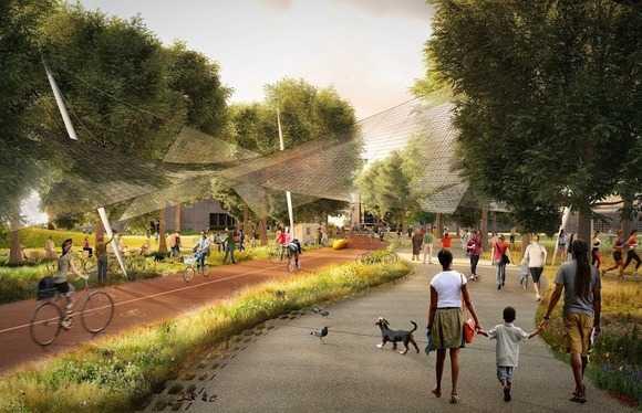 Không chỉ nhân viên Google mà cư dân Mountain View cũng được thừa hưởng lợi ích từ trụ sở mới.