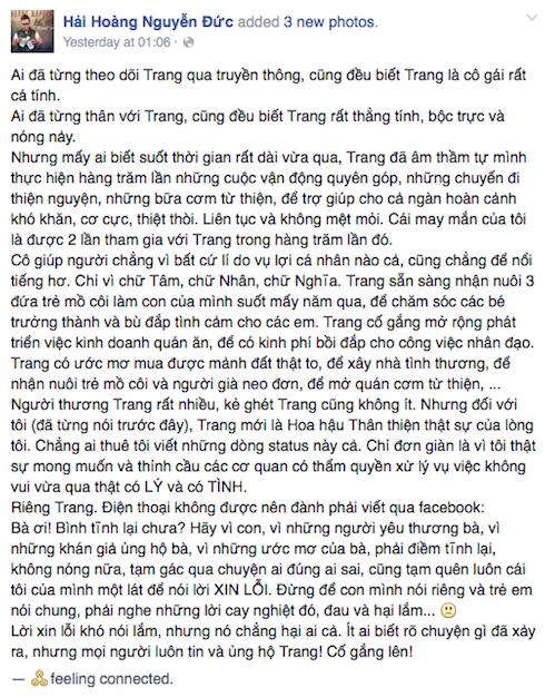 Chia sẻ của Hoàng Rapper.