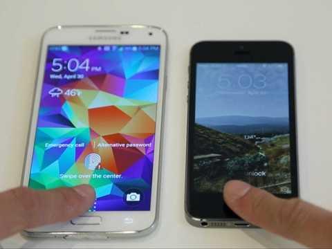 Samsung Galaxy S5 và iPhone 5s