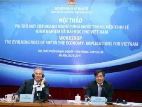 Bộ trưởng Bùi Quang Vinh và Cựu Thủ tướng Anh Tony Blair chủ trì Hội thảo về vai trò của doanh nghiệp nhà nước