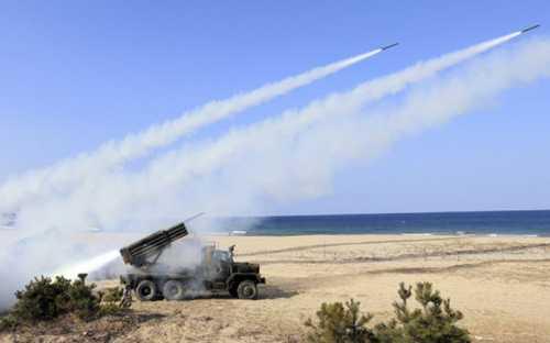 Tên lửa Triều Tiên trong một buổi bắn kiểm tra