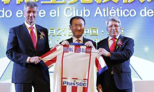 Ông Wang Jianlin trở thành một thành viên sở hữu CLB Atletico Madrid.