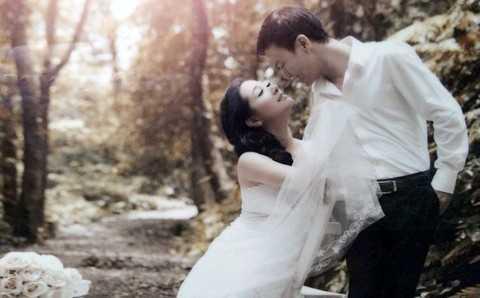 Ảnh cưới của Chế Phong và Thanh Thanh Hiền từng gây xôn xao cộng đồng mạng. Ảnh nhân vật cung cấp.