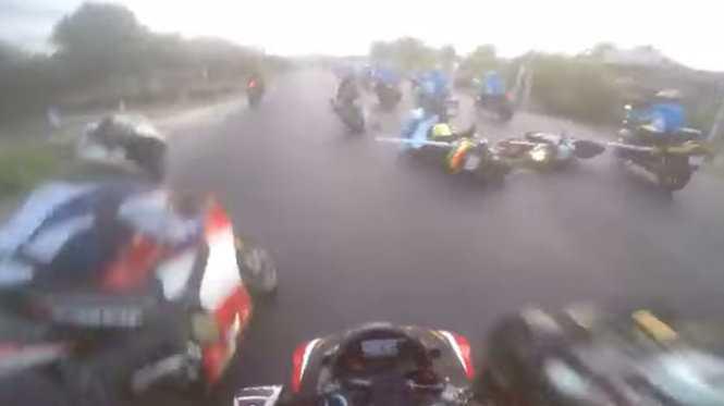 Hiện trường vụ tai nạn  - Ảnh chụp từ video clip