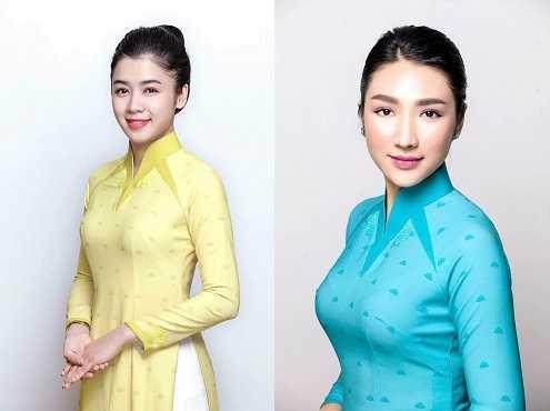 Đồng phục mới của tiếp viên Vietnam Airlines với hai màu xanh và màu vàng