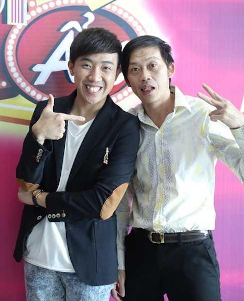 Hoài Linh và Trấn Thành.