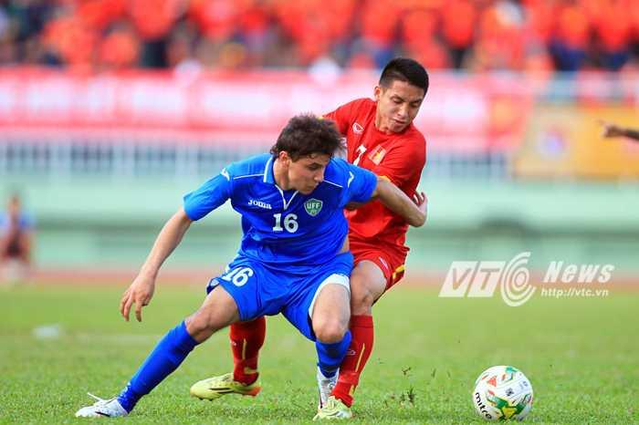 U23 Việt Nam chơi ngang cơ đối thủ khá mạnh (Ảnh: VSI)
