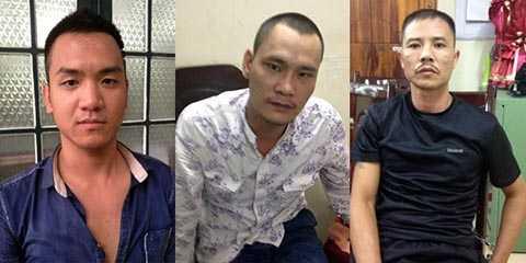 Các đối tượng Lê Hồng Thuận, Hoàng Anh Tuấn và Nguyễn Kim Bình.