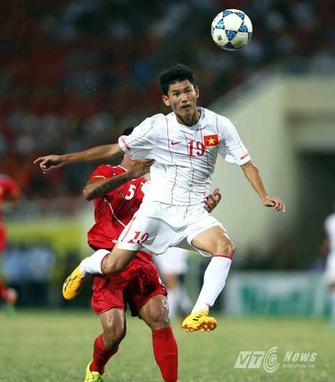 Phan Văn Long trong màu áo U19 Việt Nam tại giải U19 Đông Nam Á 2014 (Ảnh: Quang Minh)