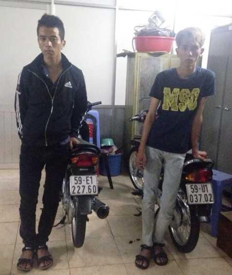 Các đối tượng cướp bị bắt giữ