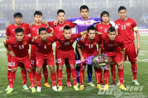 Văn Tiến trong đội hình chính U23 Việt Nam đá giao hữu với U23 Indonesia (Ảnh: Quang Minh)