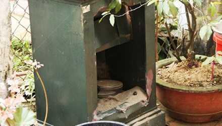 Chiếc két sắt của gia đình nạn nhân đã được cơ quan điều tra kiểm tra