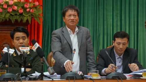 Ông Phan Đăng Long tại cuộc họp giao ban báo chí chiều 17/3.