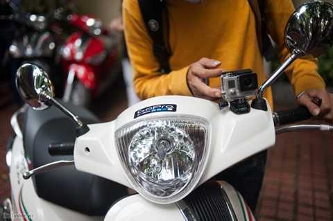 Liberty, mẫu xe máy đầu tiên tại Việt Nam gắn sẵn camera hành trình GoPro