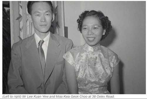 Ông Lý Quang Diệu và bà Kha Ngọc Chi thời trẻ