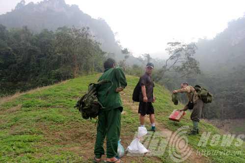 Đoàn thám hiểm vào rừng Thượng Lâm tìm dấu vết hổ