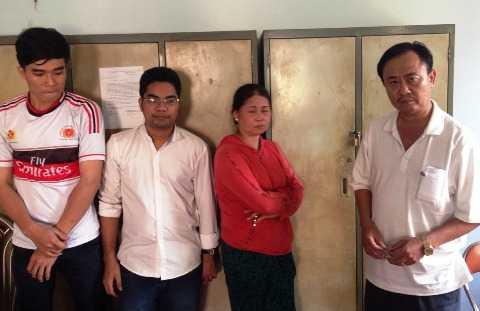 Bốn nghi can bị bắt tại cơ quan điều tra