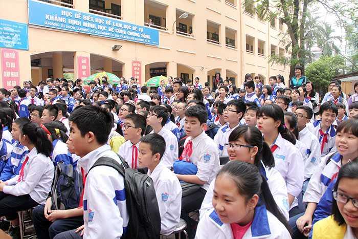 """Ngay từ khi phát động, cuộc thi """"Cùng Đức Việt trở thành Trạng nguyên tuổi 13"""" đã thu hút hàng nghìn học sinh tham gia (Ảnh: Phạm Thịnh)"""