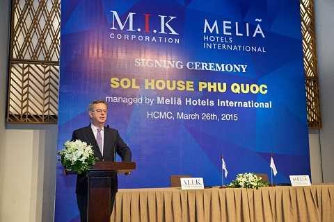 Sol House Phú Quốc do M.I.K Corporation phát triển sẽ được quản lý bởi Tập đoàn Meliã Hotels International