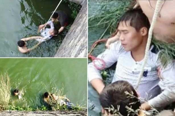 Chú rể được cứu sau khi nhảy xuống sông