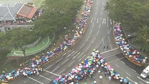 Linh cữu ông Lý Quang Diệu được đưa qua nhiều địa điểm quan trọng ở Singapore