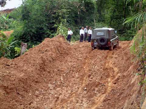 Một chiến lược phát triển vùng sâm Ngọc Linh được mở đầu bằng việc đầu tư mở đường lên vùng sâm Ngọc Linh.