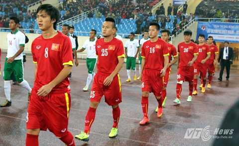 Tuấn Anh trong đội hình ra sân của U23 Việt Nam ở trận gặp U23 Indonesia                (Ảnh: Quang Minh)