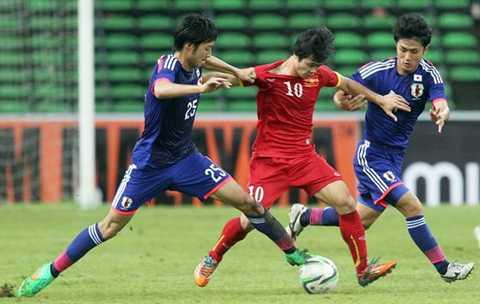 U23 Nhật Bản chơi với tính hệ thông rất cao (Ảnh: Thanh Niên)