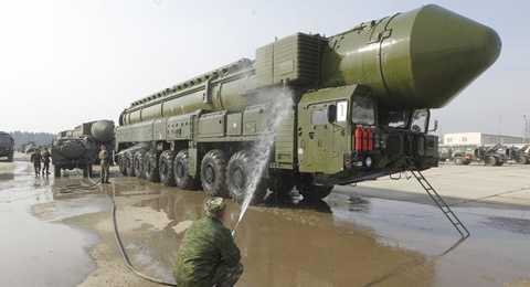 Hệ thống tên lửa đạn đạo liên lục địa của Nga - Ảnh: Sputnik