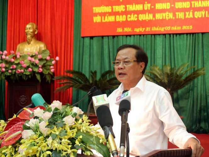 Bí thư thành ủy Hà Nội Phạm Quang Nghị cho biết các đơn vị đã thực hiện sai chủ trương thay thế cây xanh, thực hiện nóng vội và không giải thích cặn kẽ với người dân