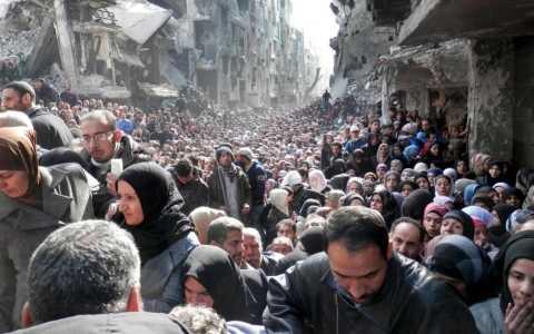 Người dân Palestine tại khu trại tỵ nạn Yarmouk