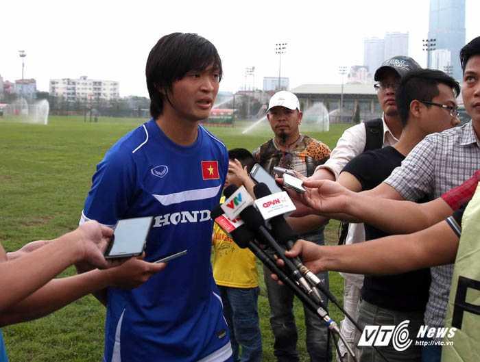 Tuấn Anh trả lời phỏng vấn trong thời gian tập trung ở Hà Nội