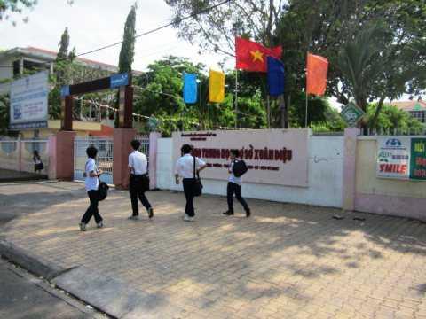 Trường THCS Xuân Diệu nơi xảy ra vụ việc - Ảnh: Hoài Thương