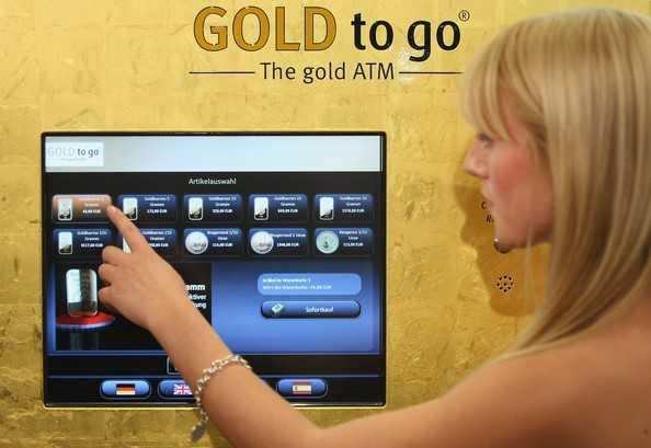 Cây 'ATM' vàng tại Dubai